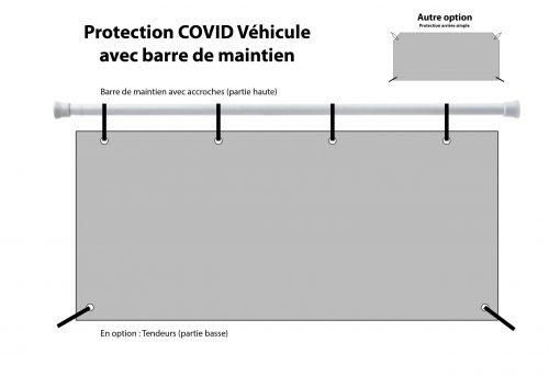 protection souple avec barre pour taxi