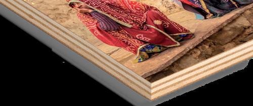 Impression tableau sur bois avec blanc de soutien