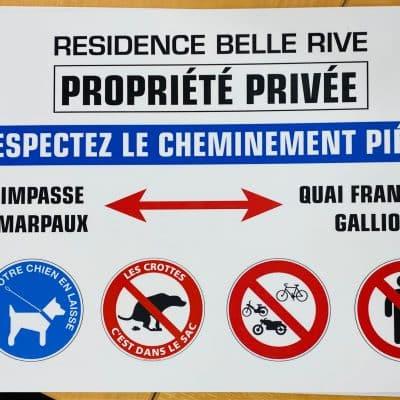 plaque de propriété privé