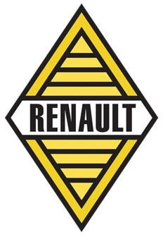 Renault ancien logo année 1959