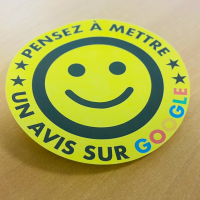 post it smiley rond