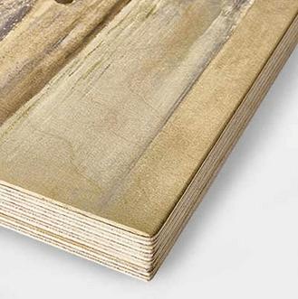 Impression sur bois bouleau