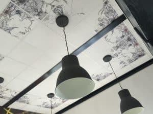 Dalle de plafond imprimée