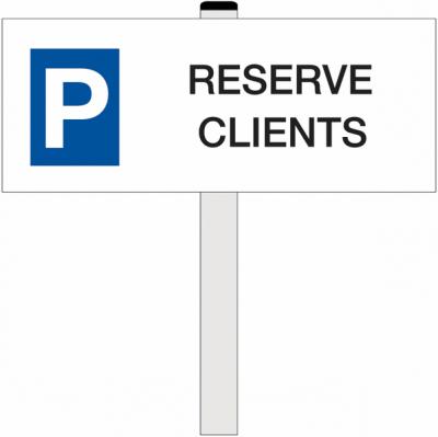 panneau parking reservé