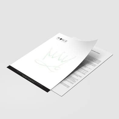 impression papier en tête recto verso