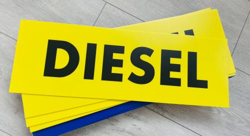 panneau garage diesel