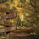 Panneau bois famille automne