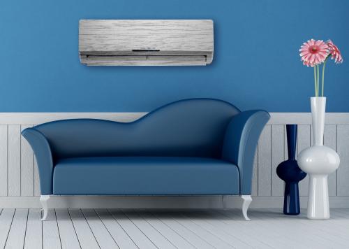 Habillage de climatisation, modèle bois blanchi